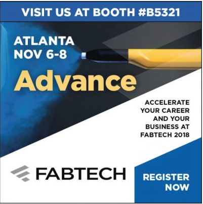 JOIN US AT FABTECH 2018